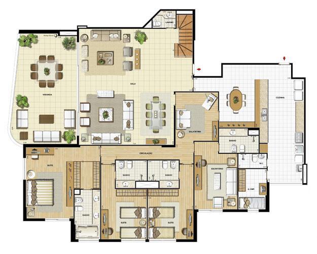 Edifício Flamands - Planta do 15º pavto (col. 3 e 4) | Saint Barth – Apartamento na  Barra da Tijuca - Rio de Janeiro - Rio de Janeiro
