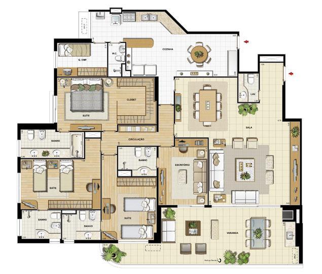 Edifício Saint Jean - Planta do 1º ao 14º pavimento | Saint Barth – Apartamento na  Barra da Tijuca - Rio de Janeiro - Rio de Janeiro