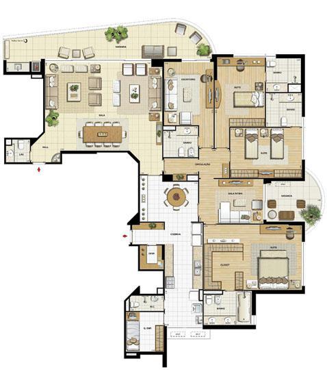 Edifício Le Petit Anse - Planta do 1º ao 14º pavto. (col. 6) | Saint Barth – Apartamento na  Barra da Tijuca - Rio de Janeiro - Rio de Janeiro