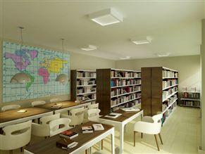 Perspectiva ilustrada do Sala de Estudos