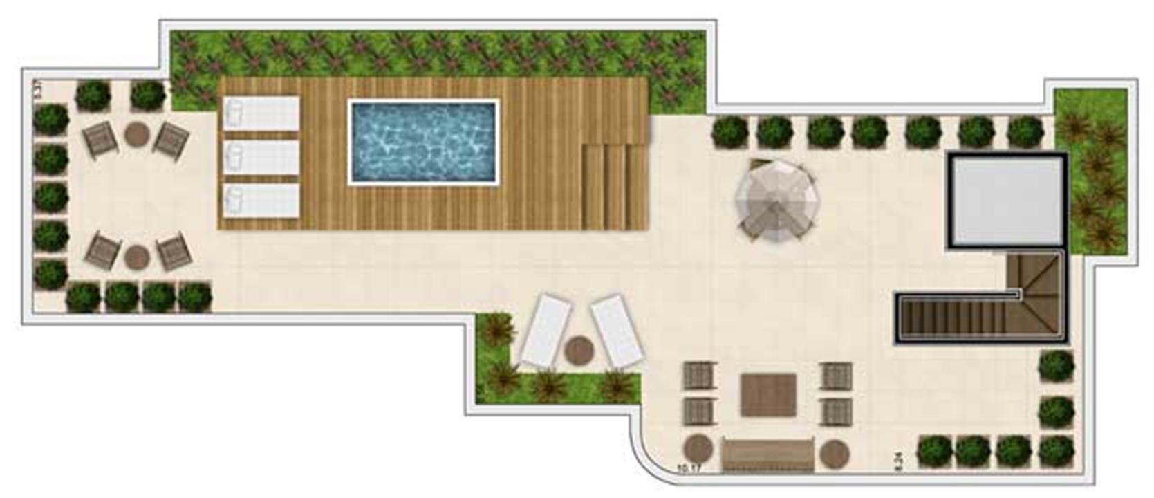 Planta | Vanilla House Garden – Apartamentono  Alto de Pinheiros - São Paulo - São Paulo