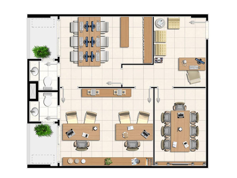 Planta tipo da sala de 67,5 m² | Next Medical e Office – Salas Comerciais em  Castanheira - Belém - Pará