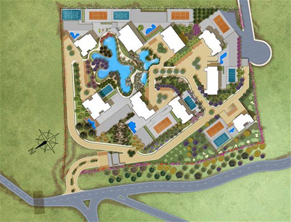 Perspectiva ilustrada da implantação | Olympus - Artemis – Apartamentona  Vila da Serra - Nova Lima - Minas Gerais