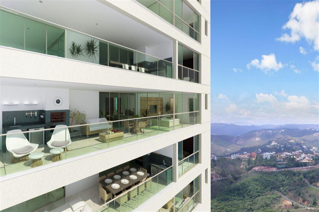 Varanda | Olympus - Artemis – Apartamentona  Vila da Serra - Nova Lima - Minas Gerais