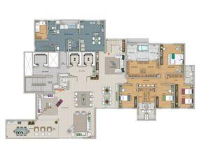 Planta 720 m² | Olympus - Artemis – Apartamento na  Vila da Serra - Nova Lima - Minas Gerais