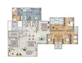 Planta tipo 359 m² | Olympus - Artemis – Apartamento na  Vila da Serra - Nova Lima - Minas Gerais