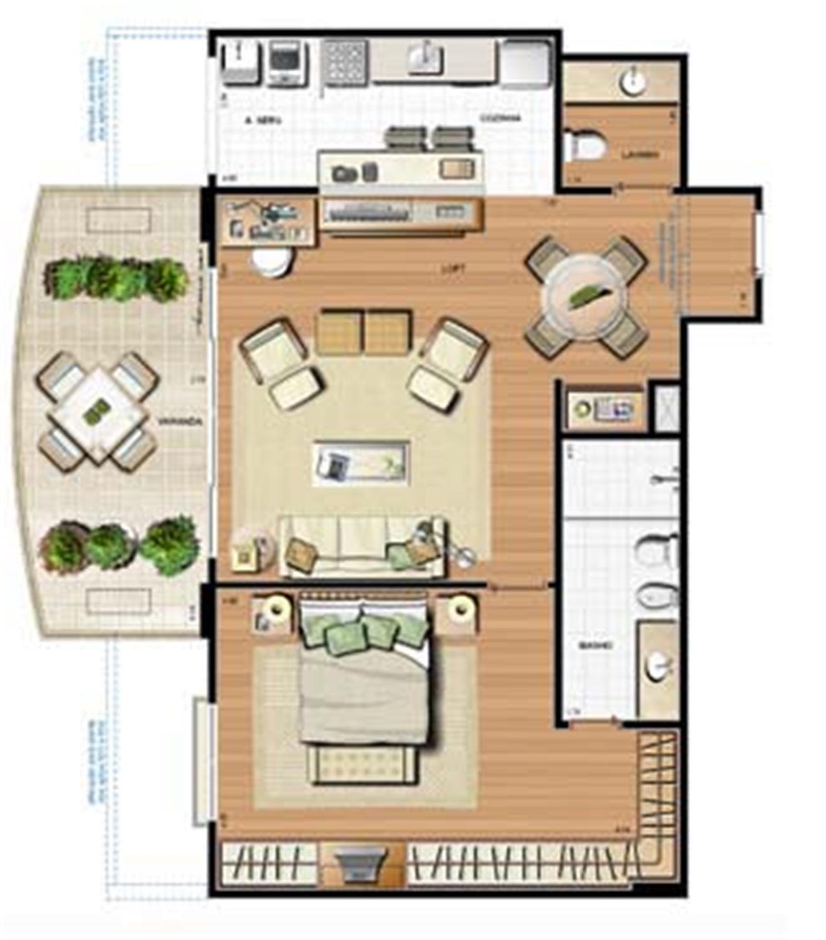 Planta 103.32m² | Le Parc Residential Resort – Apartamentona  Barra da Tijuca - Rio de Janeiro - Rio de Janeiro