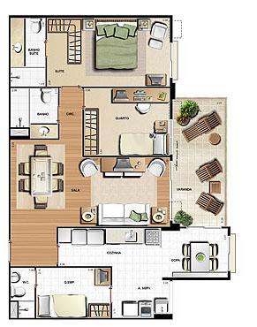 Planta 99.63m² | Le Parc Residential Resort – Apartamento na  Barra da Tijuca - Rio de Janeiro - Rio de Janeiro