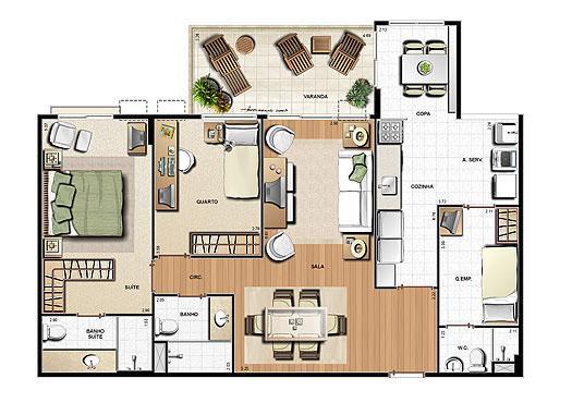 Planta 99.96m² | Le Parc Residential Resort – Apartamento na  Barra da Tijuca - Rio de Janeiro - Rio de Janeiro