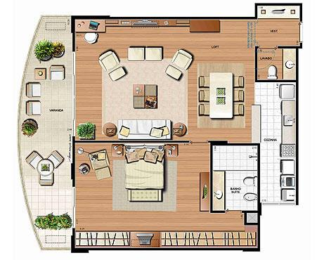 Planta 123.22m² | Le Parc Residential Resort – Apartamento na  Barra da Tijuca - Rio de Janeiro - Rio de Janeiro