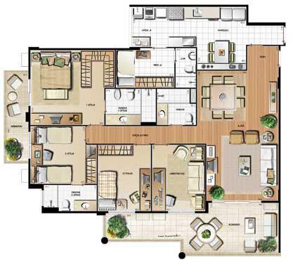 Planta 159.75m² | Le Parc Residential Resort – Apartamento na  Barra da Tijuca - Rio de Janeiro - Rio de Janeiro