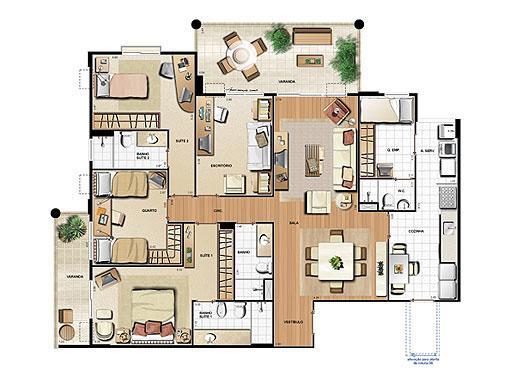 Planta 148,71m² | Le Parc Residential Resort – Apartamento na  Barra da Tijuca - Rio de Janeiro - Rio de Janeiro
