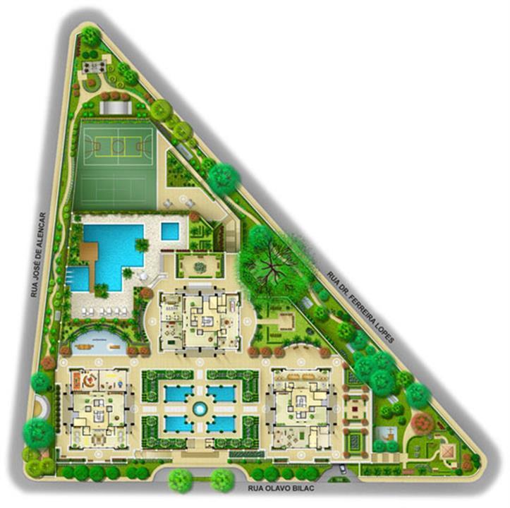 Perspectiva Ilustrada da Implantação | A Reserva – Apartamentona  Chácara Flora - São Paulo - São Paulo
