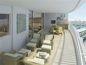Perspectiva Ilustrada - Terraço do apartamento de 208 m²