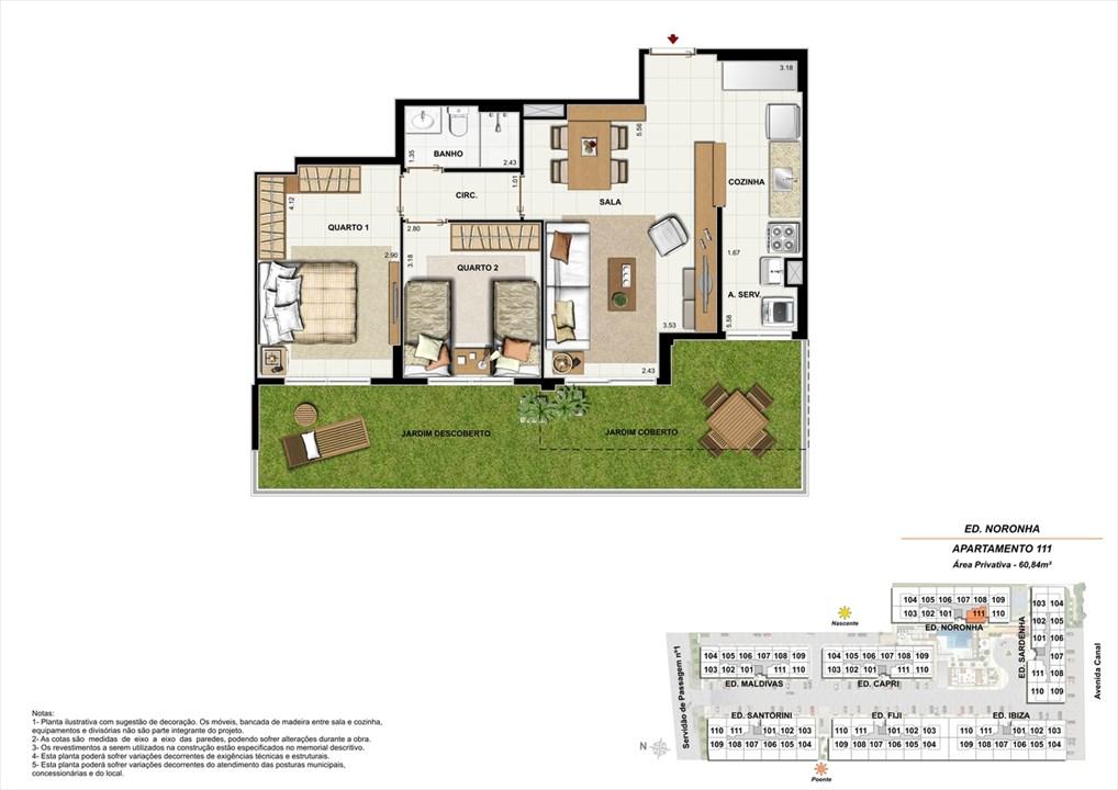 Apartamento 111 - Ed. Noronha | Ocean Pontal Residence – Apartamentono  Recreio dos Bandeirantes - Rio de Janeiro - Rio de Janeiro