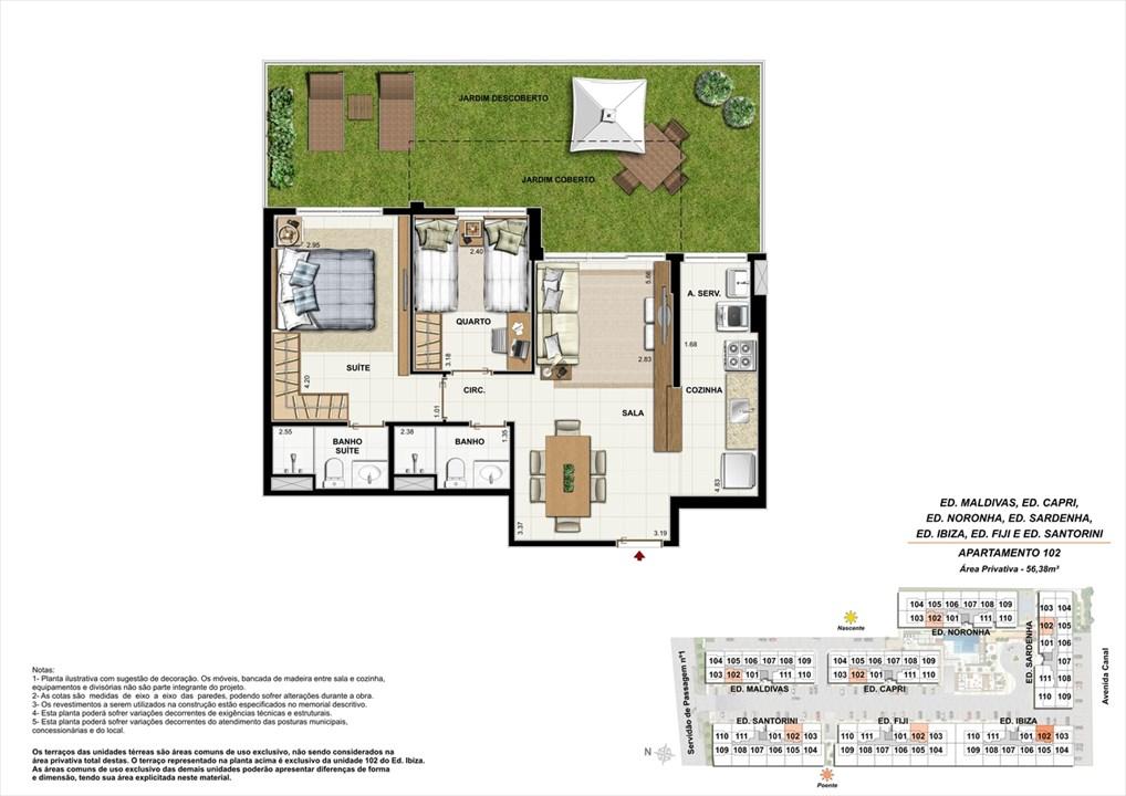 apartamento 102 | Ocean Pontal Residence – Apartamentono  Recreio dos Bandeirantes - Rio de Janeiro - Rio de Janeiro
