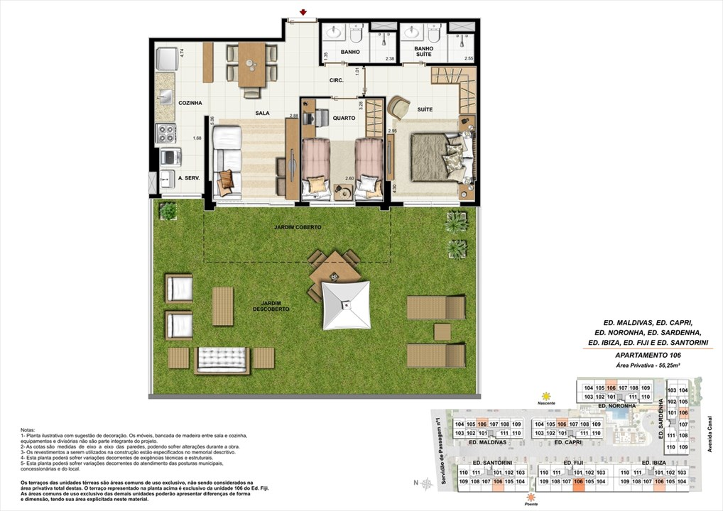 Apartamento 106 | Ocean Pontal Residence – Apartamentono  Recreio dos Bandeirantes - Rio de Janeiro - Rio de Janeiro