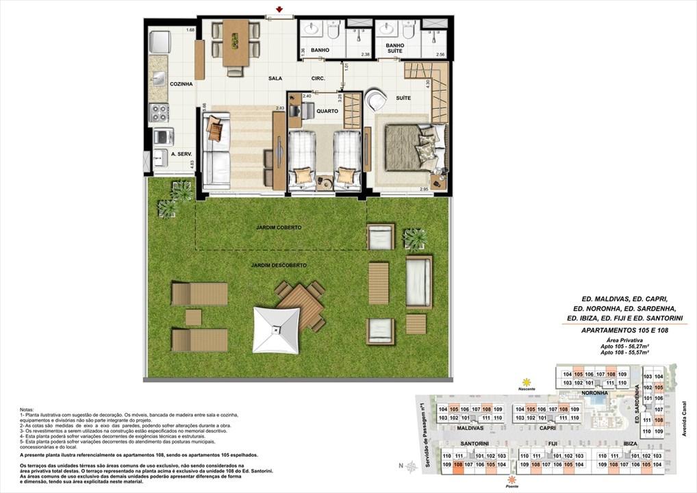 Apartamento 105 e 108 | Ocean Pontal Residence – Apartamentono  Recreio dos Bandeirantes - Rio de Janeiro - Rio de Janeiro