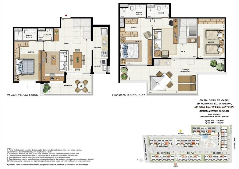 Apartamentos 802 e 811 | Ocean Pontal Residence – Apartamentono  Recreio dos Bandeirantes - Rio de Janeiro - Rio de Janeiro
