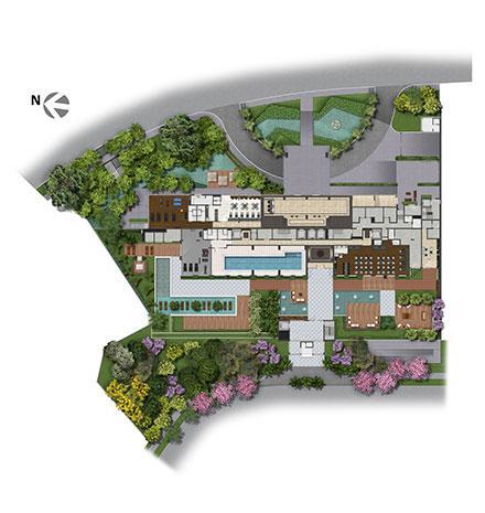 Implantação   Axis - Home – Apartamento no  Altos de Petrópolis - Porto Alegre - Rio Grande do Sul