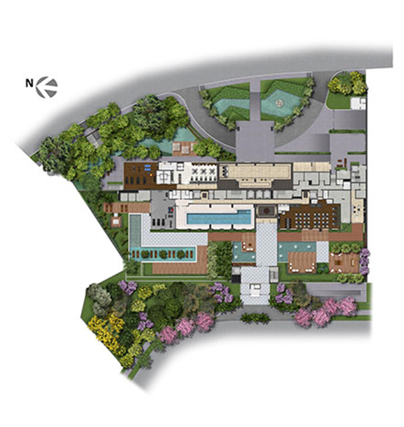 Implantação   Axis - Home – Apartamentono  Altos de Petrópolis - Porto Alegre - Rio Grande do Sul
