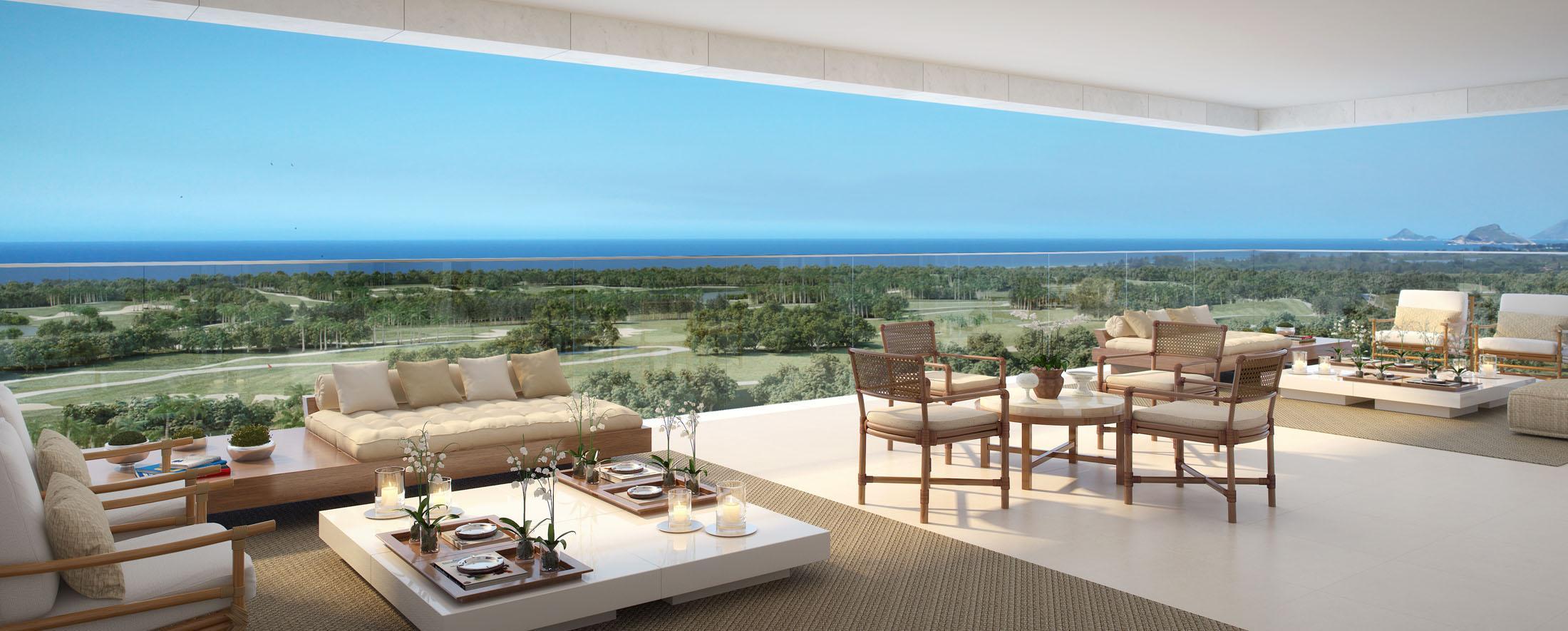 Varanda   Riserva Golf Vista Mare Residenziale – Apartamentona  Barra da Tijuca - Rio de Janeiro - Rio de Janeiro