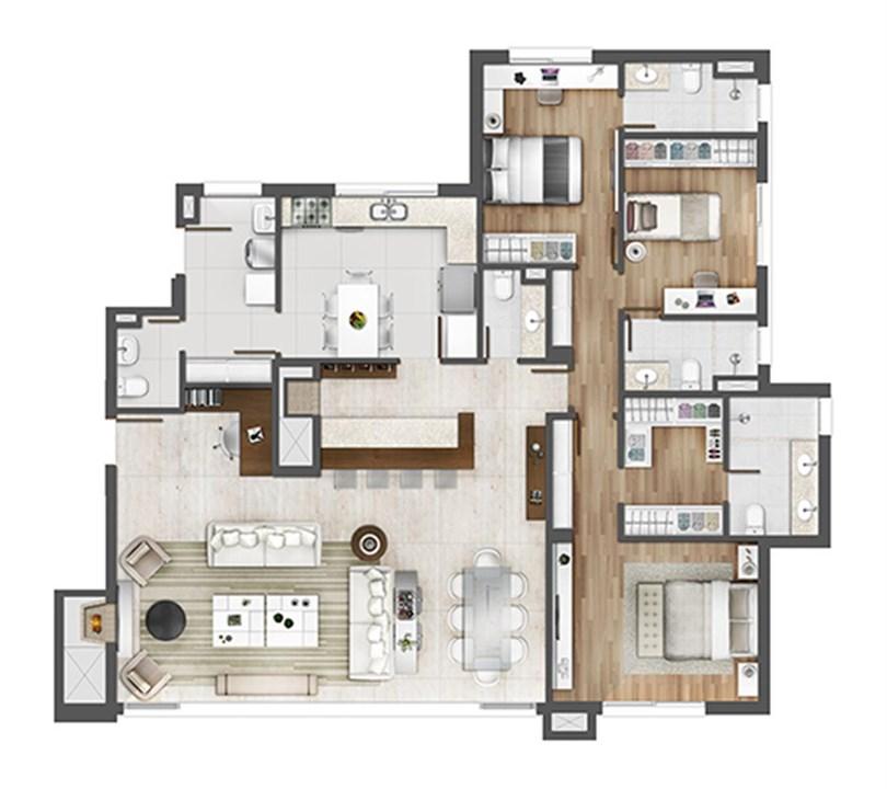 Apto 162m²   opção home office | Porto Alegre Incomparável – Apartamentono  Petrópolis - Porto Alegre - Rio Grande do Sul