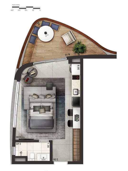 Apartamento tipo 4 - layout A P4 | Cyrela by Pininfarina – Apartamentona  Região da Faria Lima - São Paulo - São Paulo