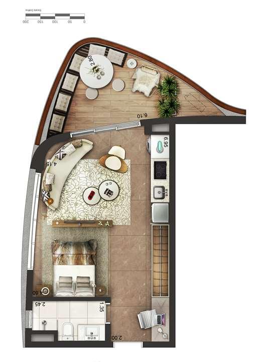 Apartamento tipo 4 - layout B P3 | Cyrela by Pininfarina – Apartamentona  Região da Faria Lima - São Paulo - São Paulo