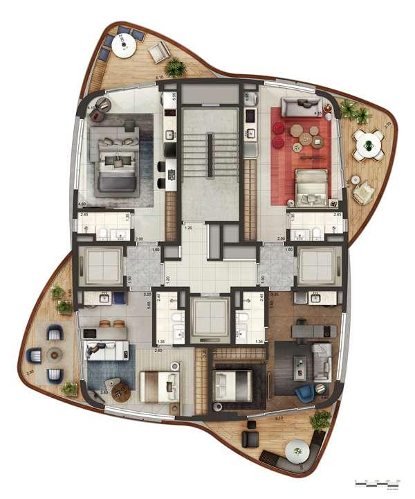Pavimento | Cyrela by Pininfarina – Apartamentona  Região da Faria Lima - São Paulo - São Paulo