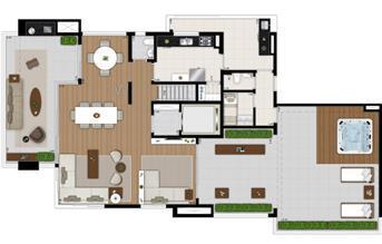SKR Campo Belo Planta Duplex Inferior rotacionada   Tom 1102 – Apartamento no  Campo Belo - São Paulo - São Paulo