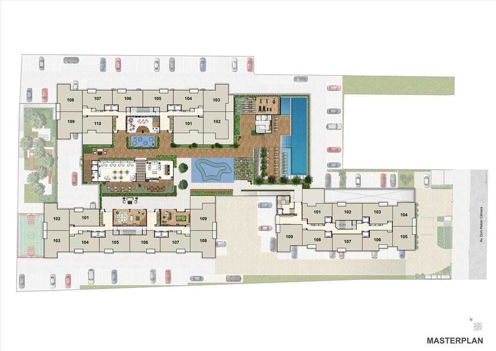 Masterplan | Nobre Norte Clube Residencial – Apartamentono  Cachambi - Rio de Janeiro - Rio de Janeiro