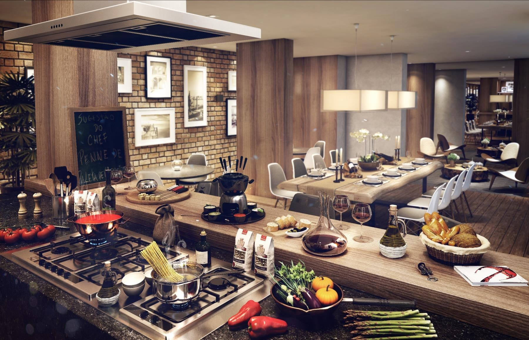 Perspectiva Ilustrada: Cozinha do Chef