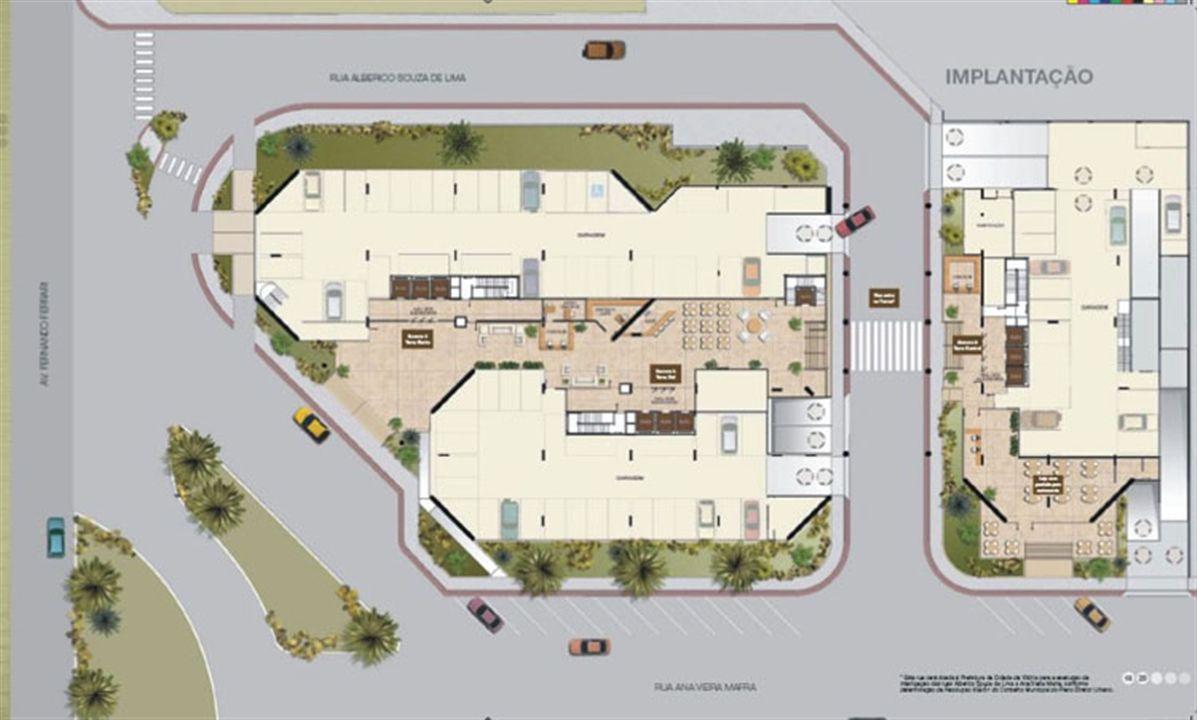 Implantação | América Centro Empresarial – Salas Comerciaisna  Mata da Praia - Vitória - Espírito Santo