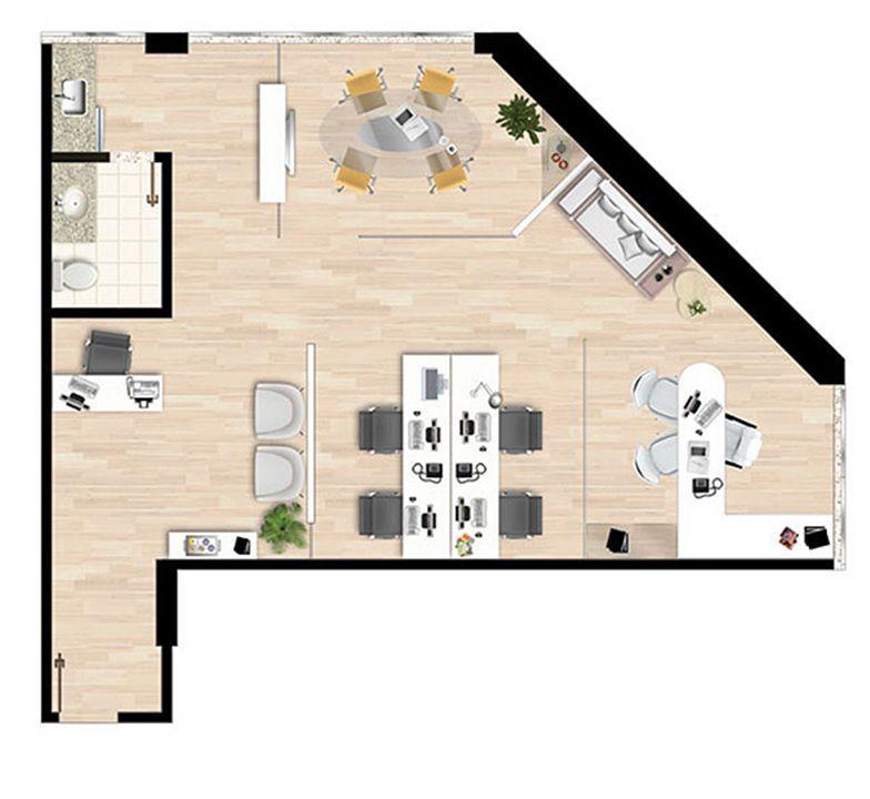 Planta 73,47 m² | América Centro Empresarial – Salas Comerciaisna  Mata da Praia - Vitória - Espírito Santo