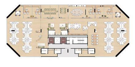 Planta andar completo - 686,18 m² | América Centro Empresarial – Salas Comerciais na  Mata da Praia - Vitória - Espírito Santo