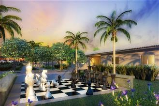 Perspectiva ilustrada da praca xadrez