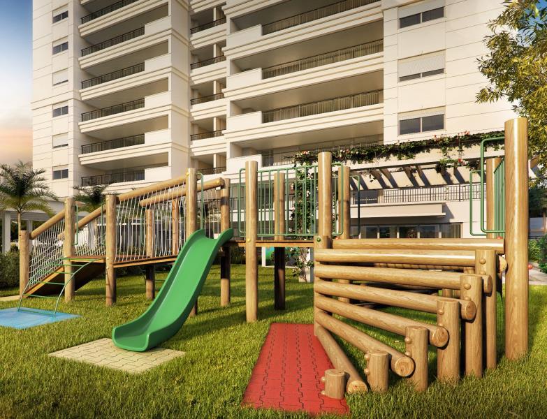 Perspectiva ilustrada do Playground, para mais tempo ao ar livre.