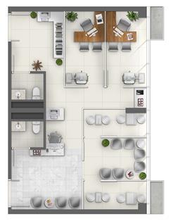 Consultório de Oftalmologia (Junção) - Área 73m² - Torre Norte Saúde | MEDPLEX - Torre Norte  – Salas Comerciais no  Centro do Eixo Hospitalar  - Porto Alegre - Rio Grande do Sul