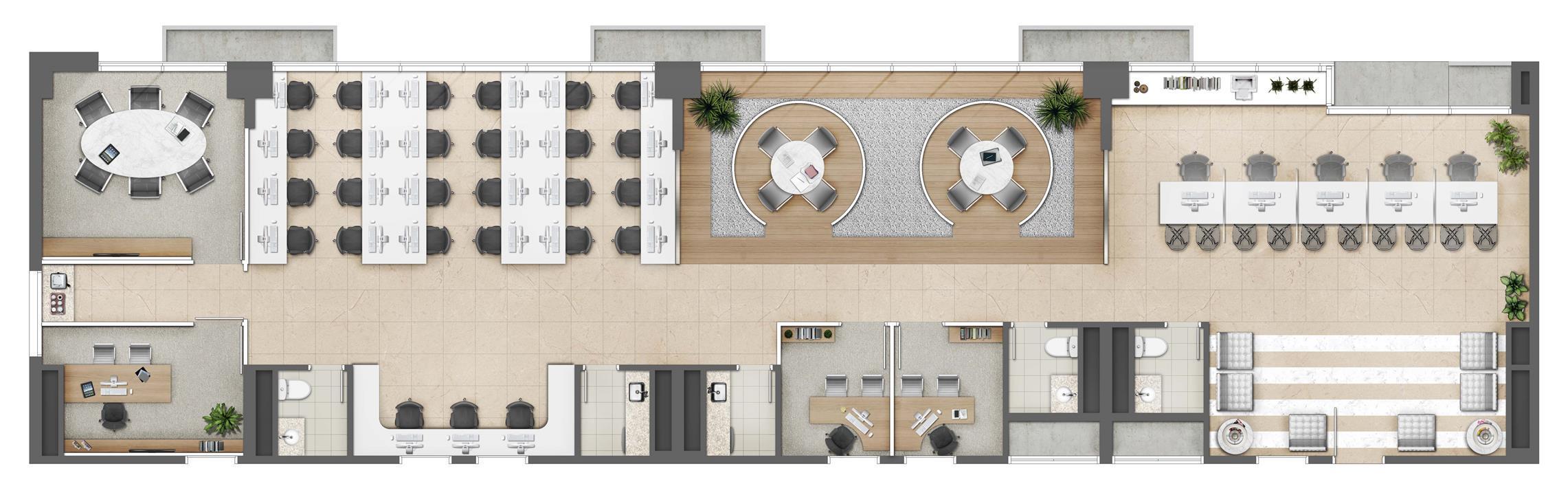 Plano de Saúde (Junção) - Área 185m² - Torre Norte Office | MEDPLEX - Torre Norte – Salas Comerciaisno  Centro do Eixo Hospitalar  - Porto Alegre - Rio Grande do Sul
