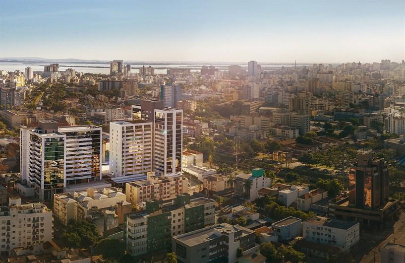 Fachada | MEDPLEX - Torre Norte  – Salas Comerciaisno  Centro do Eixo Hospitalar  - Porto Alegre - Rio Grande do Sul