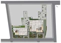 Implantação Térreo 1ª e 2ª Incorporação | MEDPLEX - Torre Norte  – Salas Comerciais no  Centro do Eixo Hospitalar  - Porto Alegre - Rio Grande do Sul