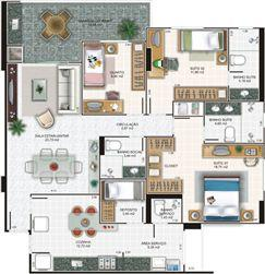 Planta apartamento 4 | Edifício Caiobás – Apartamento em  Laranjeiras - Serra - Espírito Santo