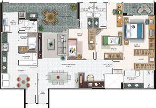 Planta apartamento 5 | Edifício Caiobás – Apartamento em  Laranjeiras - Serra - Espírito Santo