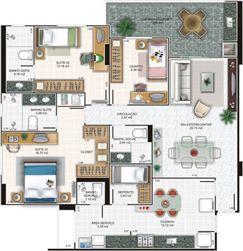 Planta cobertura 3 | Edifício Caiobás – Apartamento em  Laranjeiras - Serra - Espírito Santo
