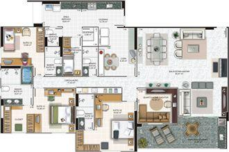Planta cobertura | Edifício Caiobás – Apartamento em  Laranjeiras - Serra - Espírito Santo