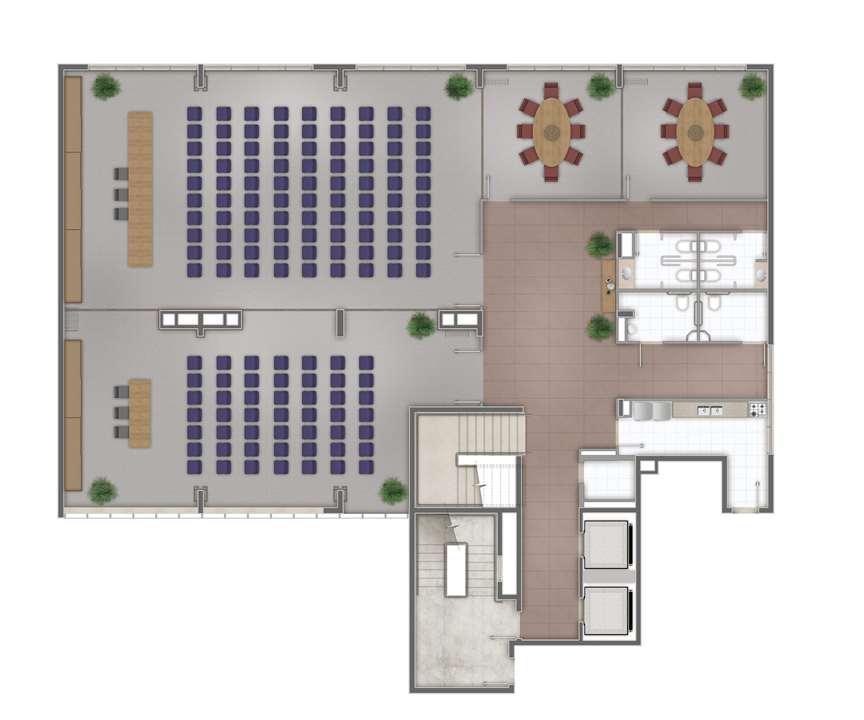 Planta sala padrão 34m² | AXIS TRIPLE BUSINESS – Salas Comerciaisno  Higienópolis - Porto Alegre - Rio Grande do Sul