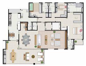 3 suítes living ampliado - 239 m² | Farol da Ilha – Apartamento na  Ponta D'areia - São Luís - Maranhão