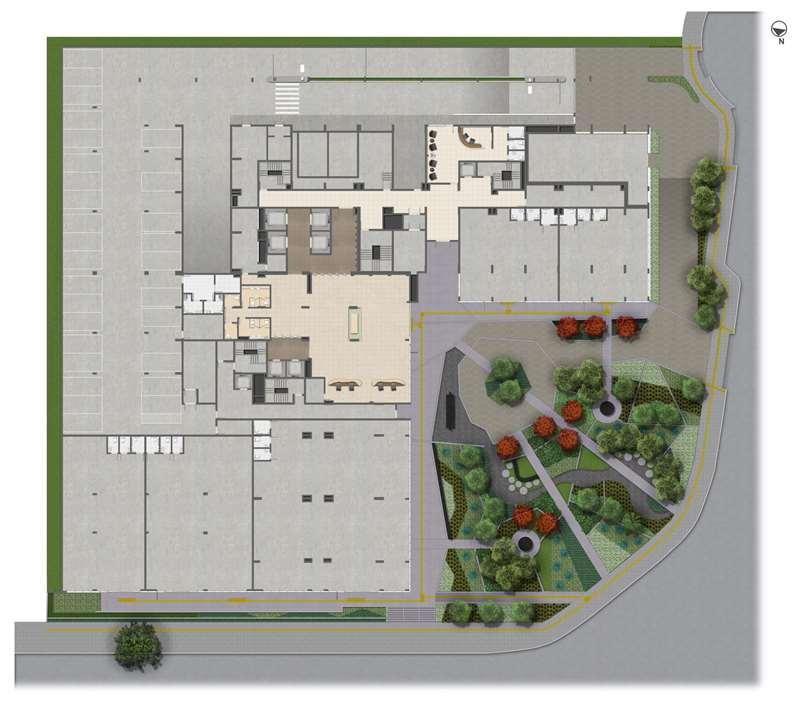 Implantação Térreo | Medplex Eixo Norte – Salas Comerciaisno  Passo d'Areia - Porto Alegre - Rio Grande do Sul