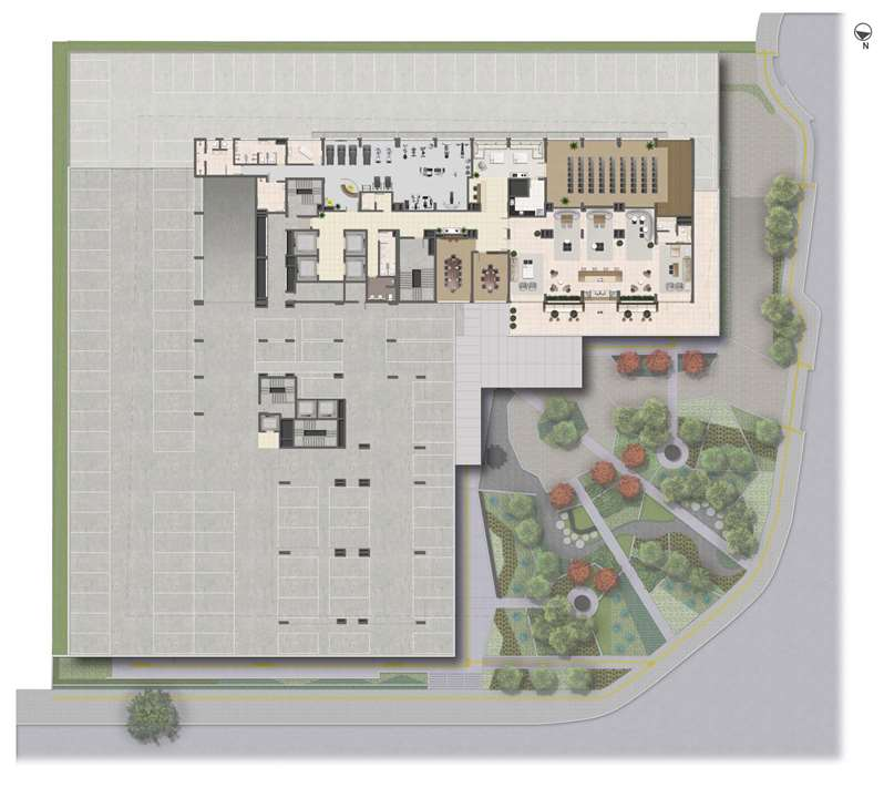 Implantação - 4º Pavimento | Medplex Eixo Norte – Salas Comerciaisno  Passo d'Areia - Porto Alegre - Rio Grande do Sul
